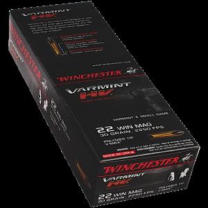 Winchester Ammo X22M2PT Supreme 22 Win Mag Poly-Tip V-Max 30 GR 50Box/20Case