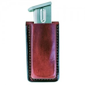 Bianchi Open Magazine Pouch Magazine Pouch in Black Smooth Leather - 10735