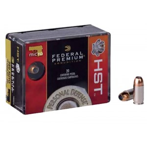 Federal Cartridge Premium .380 ACP HST, 99 Grain (20 Rounds) - P380HST1S