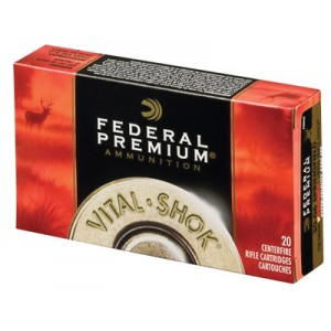 Federal Cartridge Vital-Shok Medium Game 7mm Winchester Short Magnum Trophy Bonded Tip, 140 Grain (20 Rounds) - P7WSMTT2