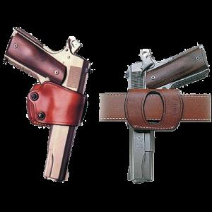 "Galco International Yaqui Right-Hand Belt Holster for Beretta 92, 96/Taurus 92, 99, 100, 101 in Black (5"") - YAQ202B"
