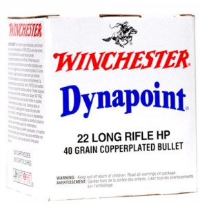 Winchester Dynapoint .22 Long Rifle Dynapoint, 40 Grain (5000 Rounds) - WD22LRBCS