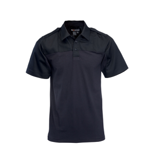 5.11 Tactical PDU Rapid Men's Short Sleeve Polo in Midnight Navy - Medium