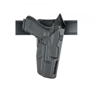 """Safariland 7TS ALS Low-Ride Level I Right-Hand Belt Holster for Glock 17 in STX Plain (4.5"""") - 7395-83-411"""
