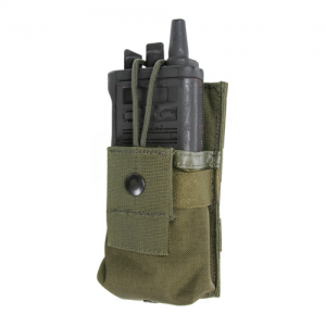 STRIKE Sm Radio/GPS pouch/clip  S.T.R.I.K.E. Small Radio/GPS pouch w/Speed clips, Olive Drab, Snap and hook and loop securing tab holds radio or GPS in place.