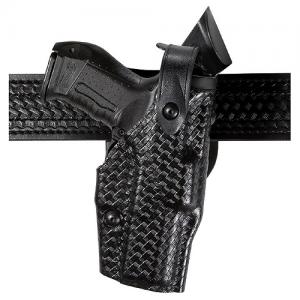 Safariland 6360 ALS Level II Right-Hand Belt Holster for Kimber Custom TLE/RL in STX Black Tactical (W/ Surefire X200) - 6360-560-131