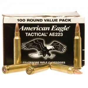 Federal Cartridge American Eagle Target .223 Remington/5.56 NATO Full Metal Jacket, 55 Grain (100 Rounds) - AE223BL