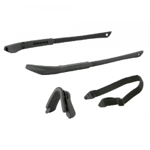 ICE Frame Kit Black - Includes two black temple pieces, black nosepiece, elastic retention strap & no-fog cloth