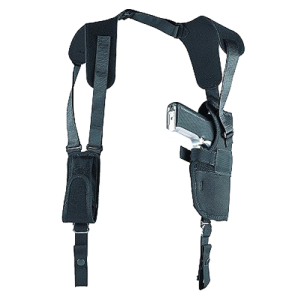"""Uncle Mike's Sidekick Right-Hand Shoulder Holster for Medium/Large Double Action Revolver in Black (7"""" - 8.5"""") - 83041"""