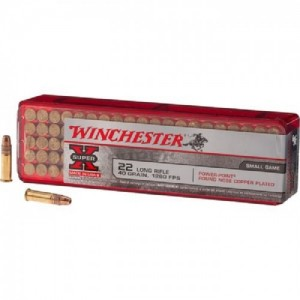 Winchester Super-X .22 Long Rifle Power-Point, 40 Grain (100 Rounds) - X22LRPP1