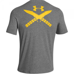 Under Armour Logo Men's T-Shirt in Carbon Heather - Small