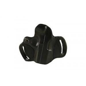 """Desantis Gunhide 86 Mini Slide Right-Hand Belt Holster for Smith & Wesson M&P in Black Leather (5"""") - 086BAL7Z0"""