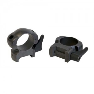 Weaver 30MM High Leverlok Top Rings w/Gloss Black Finish 49336