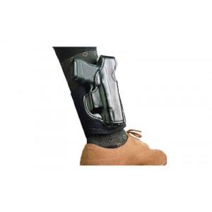 Desantis Gunhide 14 Die Hard Left-Hand Ankle Holster for Glock 43 in Black Leather - 014PD8BZ0