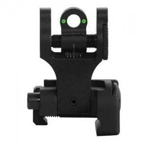 Troy Rear Folding Battle Sight Tritium FBSRTBT00