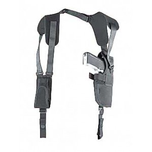 """Uncle Mike's Horizontal Right-Hand Shoulder Holster for Large Autos in Black Textured Nylon (4.5"""") - 7715-0"""