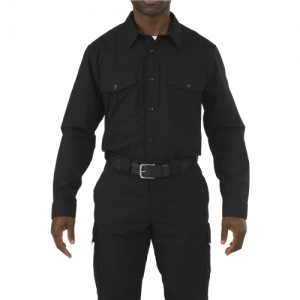 5.11 Tactical Stryke Men's Long Sleeve Uniform Shirt in Black - Large