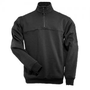 5.11 Tactical Job Shirt Men's 1/4 Zip Jacket in Black - Medium