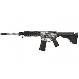 """Black Rain Ordinance Silver Skulls .223 Remington/5.56 NATO 30-Round 16"""" Semi-Automatic Rifle in Silver Skulls Print/Ceramic Clear Coat - BRO-PG3"""