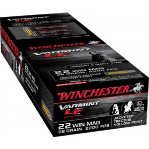 Winchester 22 Magnum Super X Lead Free Jacketed Hollow Point 28 Grain 50 Round Box X22MHLF