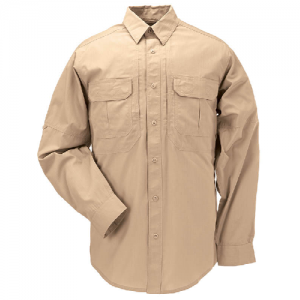 5.11 Tactical Taclite Pro Men's Long Sleeve Uniform Shirt in Coyote - Small