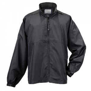 5.11 Tactical Packable Men's Full Zip Coat in Black - Large