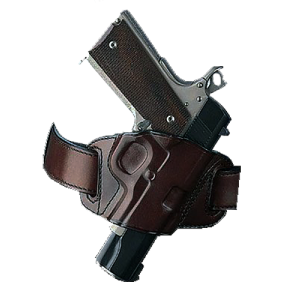 Galco International Quick Slide Belt Holster for Sig Sauer P220, 226, 228, 229 in Brown (Right) - QS248H