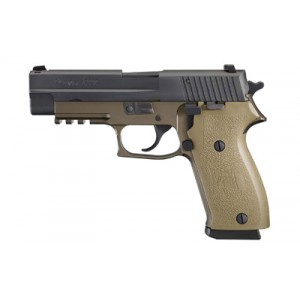 "Sig Sauer P220 Full Size Combat CA Compliant .45 ACP 10+1 4.4"" Pistol in Flat Dark Earth (FDE) (SIGLITE Night Sights) - 22045CPDSCA"
