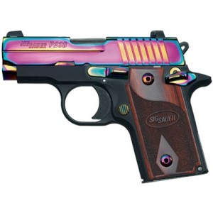 "Sig Sauer P238 Micro-Compact Rainbow .380 ACP 6+1 2.7"" Pistol in Black Nitron (Rosewood Grip) - 238380RBT"