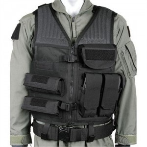 Blackhawk Safety Vest in Heavy Duty Nylon Mesh Black - One Size Fits Most