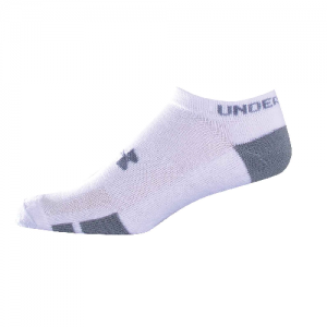 UA HeatGear Resistor No Show Color: White Size: Medium