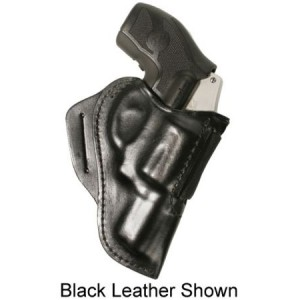 Blackhawk Leather Speed Classic Right-Hand Belt Holster for J-Frame in Brown Black Leather - 420800BN-R