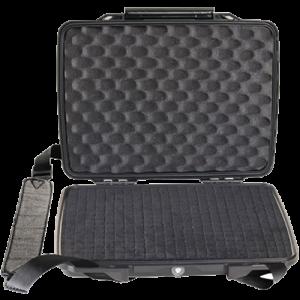 Pelican 1075 HardBack Case w/Removable Shoulder Strap ABS Polymer Black
