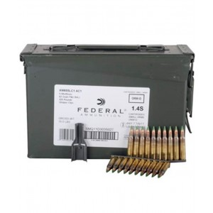 Federal Cartridge .223 Remington/5.56 NATO Full Metal Jacket Green Tip, 62 Grain (1000 Rounds) - M855-1000-CAN