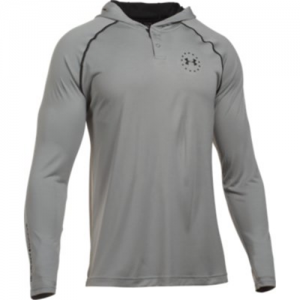 Under Armour Freedom Tech Men's 2-Button Hoodie in True Gray Heather - 2X-Large