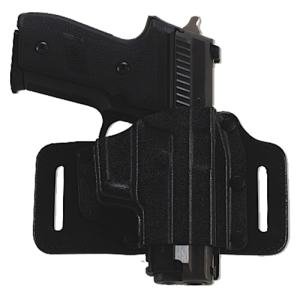 "Galco International TacSlide Right-Hand Belt Holster for Ruger LC9 in Black (1.75"") - TS636B"