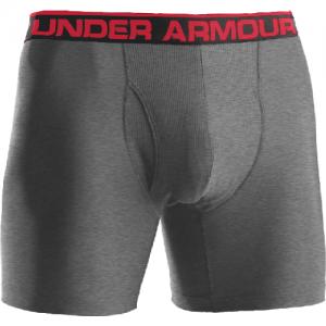 "Under Armour BoxerJock 6"" Men's Underwear in True Heather Gray - Small"