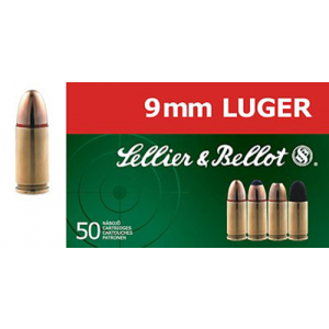 Magtech Ammunition 9mm Jacketed Hollow Point, 115 Grain (50 Rounds) - SB9C
