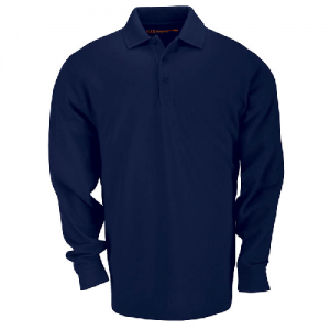 5.11 Tactical Tactical Men's Long Sleeve Polo in Dark Navy - Large