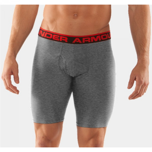 "Under Armour O-Series 9"" Men's Underwear in True Gray Heather - Small"