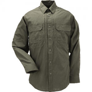 5.11 Tactical Taclite Pro Men's Long Sleeve Uniform Shirt in Tundra - Medium