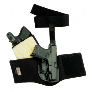 """Galco International Ankle Glove Right-Hand Ankle Holster for 1911 in Black (3"""") - AG424B"""
