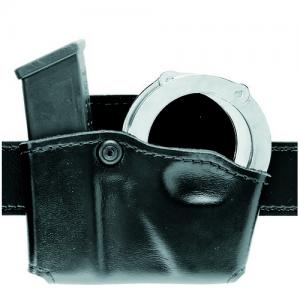 Safariland Magazine and Handcuff Pouch Magazine/Handcuff Holder in STX Plain Black - 573-83-412