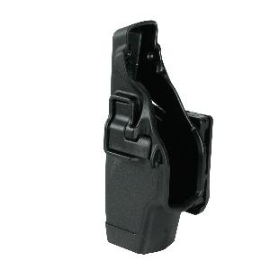 Blackhawk Serpa Level 2 Right-Hand Belt Holster for Glock 17, 19, 22, 23, 31, 32 in Black - 44H000BKR