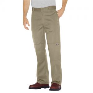 Dickies Double Knee Work Pant Men's Uniform Pants in Khaki - 36 x 30
