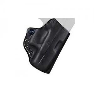 Desantis Gunhide Mini Scabbard Right-Hand Belt Holster for Kahr Arms Pm9/40/45 in Black (W/ Crimson Trace Lg-437) - 019BAU2Z0