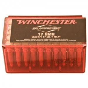 Winchester Supreme .17 HMR Poly-Tip V-Max, 17 Grain (50 Rounds) - S17HMR1