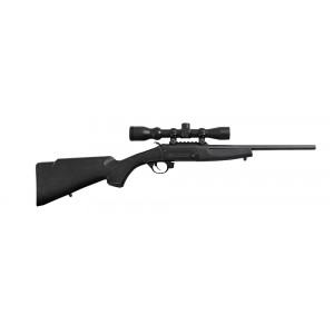 "Traditions Crackshot Black .22 Long Rifle 16.5"" Single Shot Rifle in Black - CR1220070"