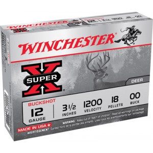 "Winchester Super-X .12 Gauge (3.5"") 00 Buck Shot Lead (5-Rounds) - XB12L00"