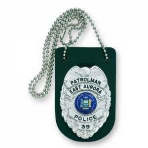 Strong Leather Badge Holder in Black Leather - 71900-0002